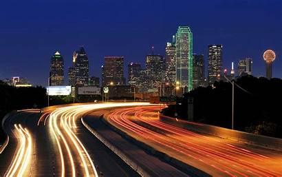Dallas Skyline Texas 4k Night Lights Wallpapers