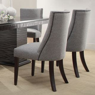 Grey Upholstered Dining Chairs With Nailheads by 13 Best Images About Dining Room Chairs On