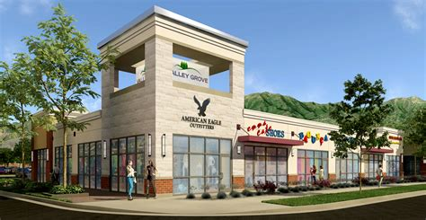 Building Exterior Design: Valley Grove Retail by XR3D Studios