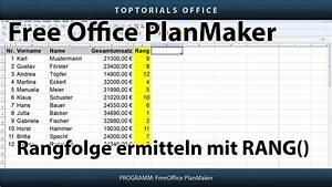 Anteil Berechnen : rangfolge berechnen rang freeoffice planmaker toptorials ~ Themetempest.com Abrechnung