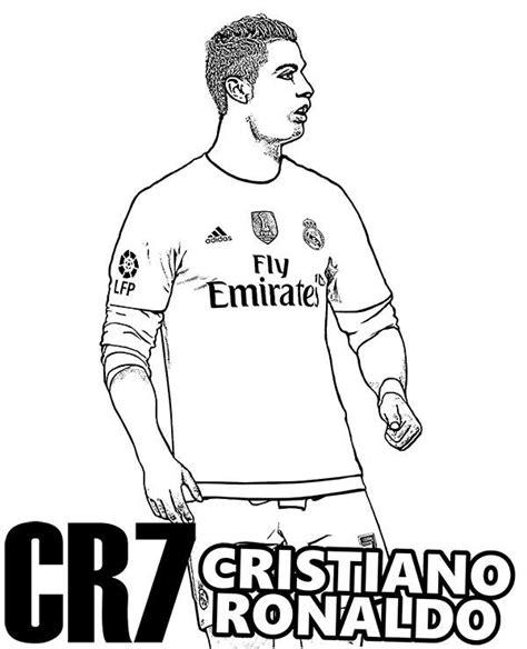 Kleurplaat Ronalda by Kleurplaten Voetbal Ronaldo
