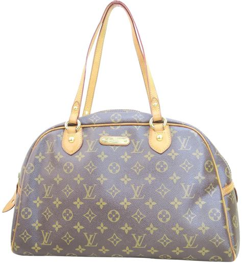 louis vuitton montorgueil gm monogram canvas shoulder bag tradesy