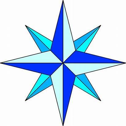 Compass Rose Simple Svg Plain Points Commons