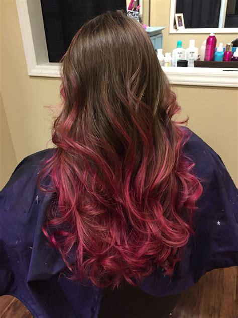 My Pink Highlights Brown Hair Pravana Magenta Hair Dye