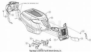 Troy Bilt 13am77ks011 Pony  2016  Parts Diagram For Hood
