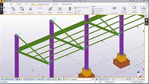 Car Park Canopy Structure Modelling In Tekla Structures