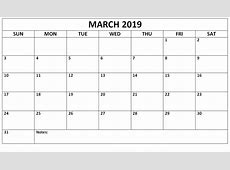 Get March 2019 A4 Calendar Printable Template April 2019