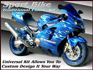 Motorcycle Graphic Kit Under Clear Paint   Morotcycle ...