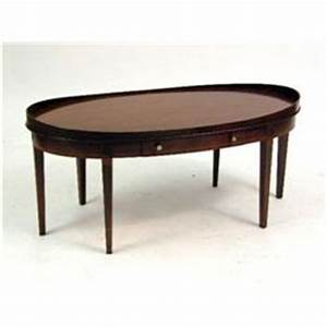 an oval mahogany one drawer coffee table With oval coffee table with drawer