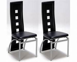 Lot De 2 Chaises Design Noir Meubles De Salon