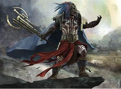 Warrior Aztec Fantasy Wallpapers 4k Background