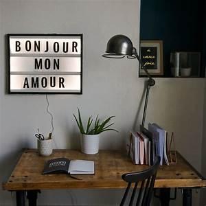 Tableau Lumineux Message : diy tableau lettres lumineuses le meilleur du diy ~ Teatrodelosmanantiales.com Idées de Décoration