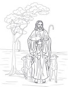 jesus   shepherd coloring page  printable coloring pages