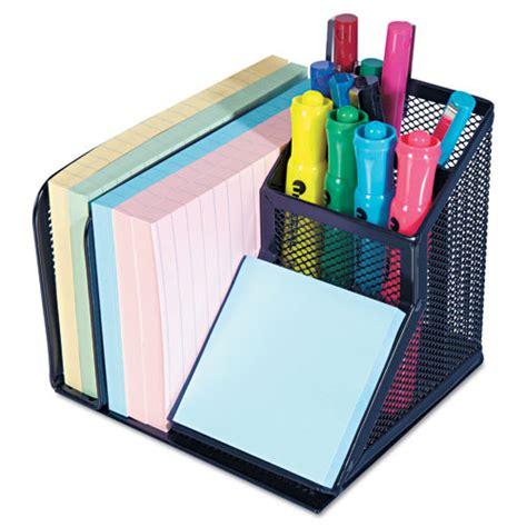 Mesh Desk Organizer, 5 34 X 5 34 X 4 18, Black Office