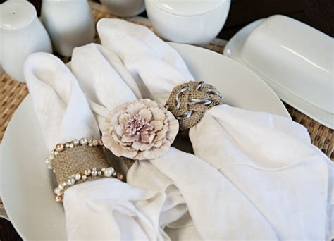 diy how to burlap napkin rings capitol romance
