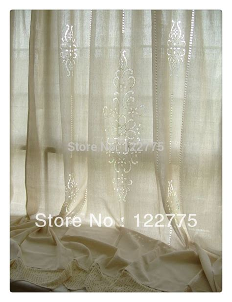 175x255cm tab top country style cotton linen