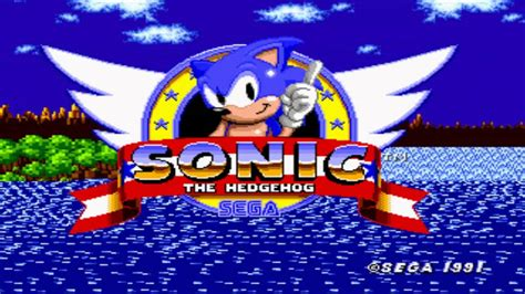 sonic  hedgehog title screensnes demo remix youtube