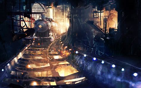 tunnel train art hd artist  wallpapers images