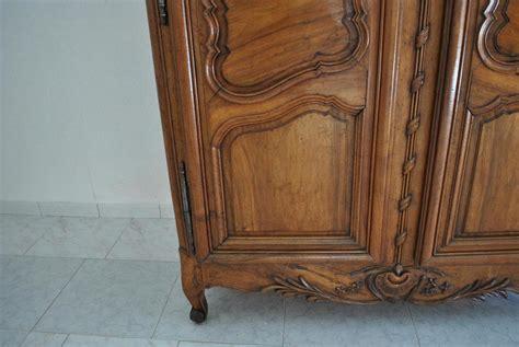 wardrobe provencale louis xv in walnut xviiith armoires