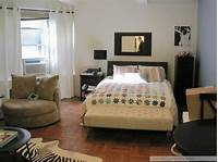 apartment decor ideas studio apartment decor - nice setup with the small furniture and neutrals with some prints (I'd ...