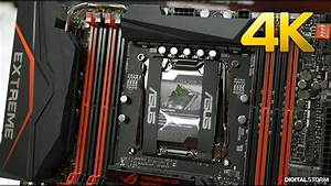 Asus Rampage V Extreme X99 Motherboard Unboxing 4k