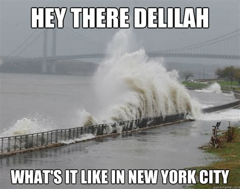 Meme Nyc - hey there delilah what s it like in new york city hurricane sandy quickmeme