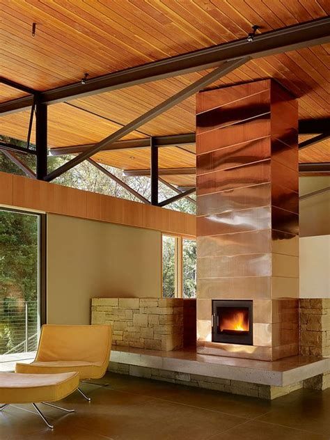 copper fireplaces 25 stylish ways to clad or cover a fireplace digsdigs