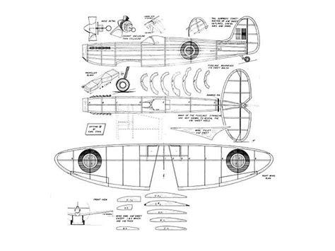 spitfire ix  balsa wood model airplane plans