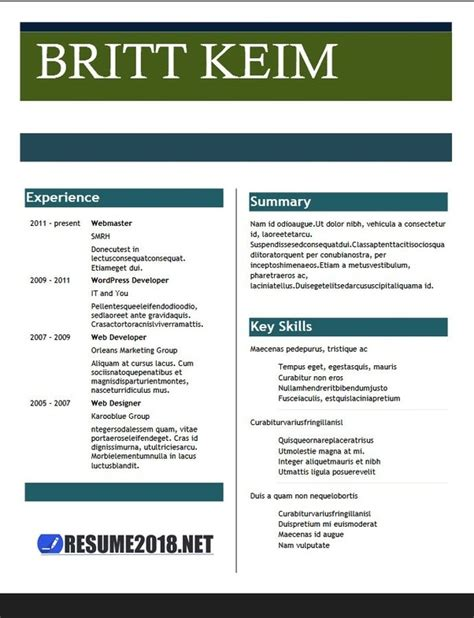 Free Resume Site by Which Is The Best Site For Best Free Resume Templates Quora