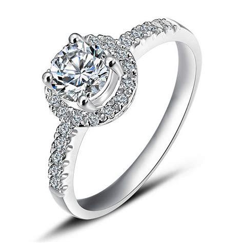 luxurious halo cheap engagement ring  carat  cut
