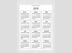 Free printable bullet journal templates + 2018 calendar