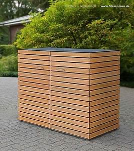 Mülltonnenbox Holz Anthrazit : 2er m lltonnenverkleidung cubus astfreies fsc hartholz ~ Whattoseeinmadrid.com Haus und Dekorationen