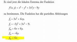 Lokale Extrema Berechnen : zweite funktion von zwei variablen extremwerte f x y x 3 y 3 3x 2 y 9y mathelounge ~ Themetempest.com Abrechnung