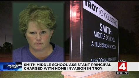 troy middle school assistant principal arrested  home