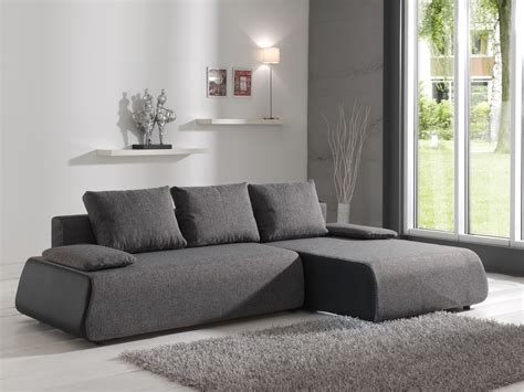 canapé d angle convertible tissu deco in 4 canape d angle convertible en tissu gris