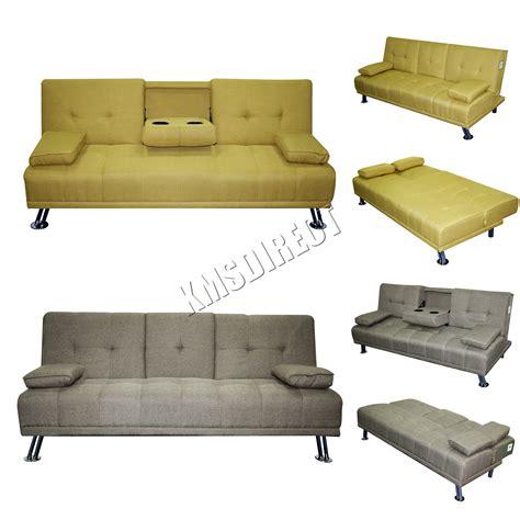 bed settee ebay foxhunter fabric manhattan sofa bed recliner 3 seater