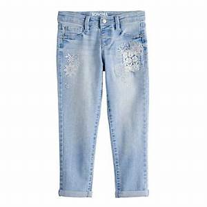 Girls 4 12 Sonoma Goods For Life Embroidered Girlfriend Jeans