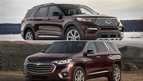 ford explorer   chevy traverse pictures