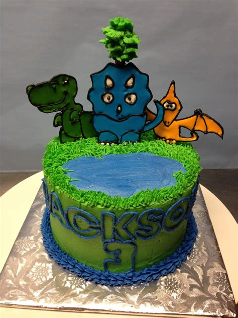 color flow icing dino cake buttercream with color flow icing cakecentral
