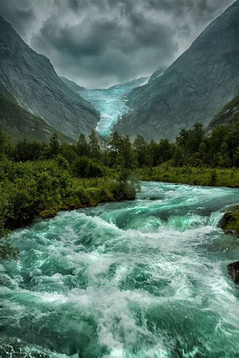 Briksdal Norway Nature Beautiful Nature Nature