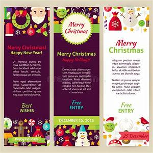 Merry Christmas Vector Party Invitation Template Flyer Set ...