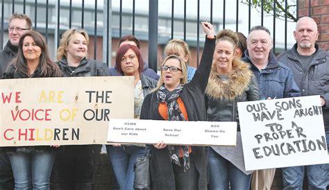 de la salle belfast calls for management to be stood as de la salle protest continues belfast media
