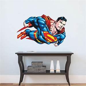 superman flying wall decal superman bedroom wall decal With superman wall decal