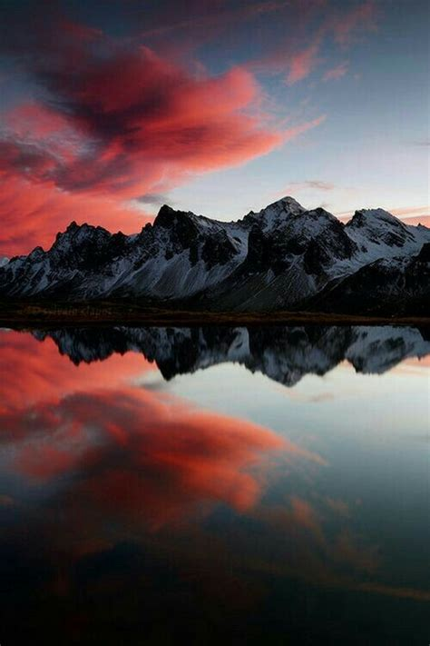 aesthetic landscape nature red wallpaper image