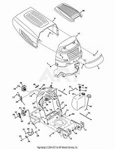 Mtd 13ax795s004  2014  Parts Diagram For Hood  U0026 Dash