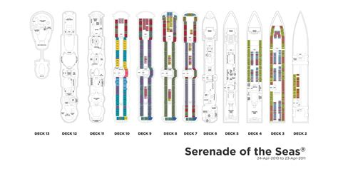 Serenade Of The Seas Deck Plan 10 by Royal Caribbean International Serenade Of The Seas