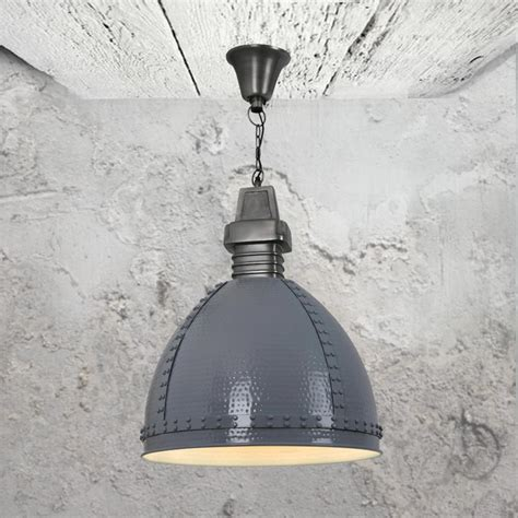 Hammered Metal Pendant Light by Grey Hammered Metal Pendant Light Cl 34038 E2 Contract
