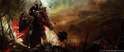 diablo iii warriors fantasy art wallpapers hd desktop