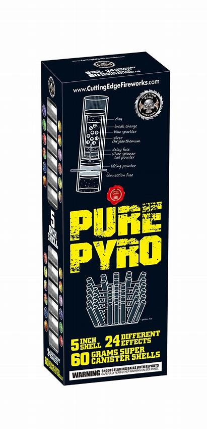 Pyro Pure Canister Shells Cutting Fireworks Edge