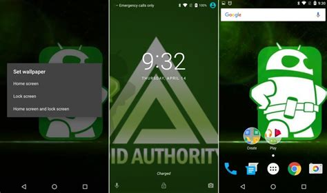 android n dev preview lets you set different wallpapers for lockscreen and homescreen